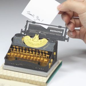 Typewriter Black Gold Light Model – Postalk
