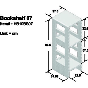 Bookshelf 07-S04 Green